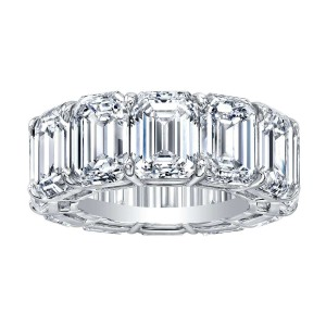 Norman Silverman Emerald Cut Diamond Eternity Band