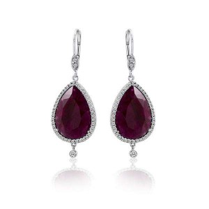 Meira T Ruby and Diamond Earring