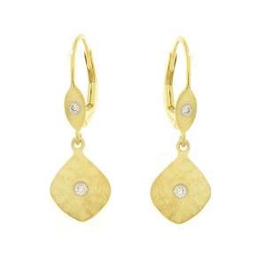 Meira T Hammered Drop Earrings