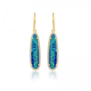 Meira T Opal Drop Earrings