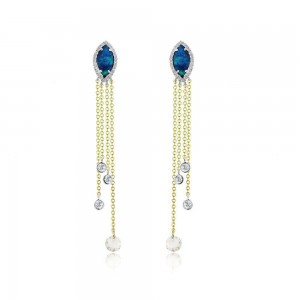 Meira T Fringe Opal Earrings