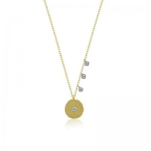 Meira T Signature Off Center Disk Necklace