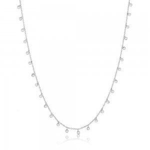 Meira T 14k Gold Necklace with Diamond Bezel