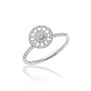 Meira T Antique Diamond Sun Ring
