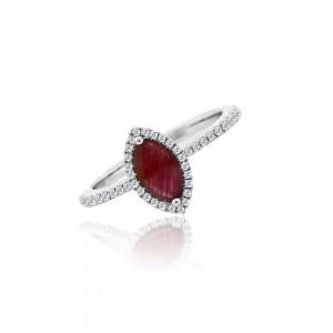 Meira T Ruby & Diamond Ring