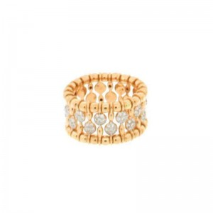 Hulchi Belluni Yellow Gold & Diamond Bead Stretch Band