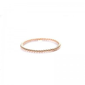 Hulchi Belluni Rose Gold Bead Stretch Bracelet