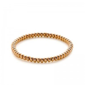 Hulchi Belluni Yellow Gold Bead Stretch Bracelet