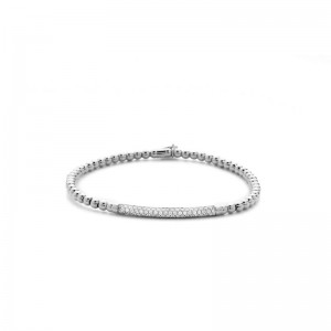 Hulchi Belluni 18K White Gold And Diamond Bar Stretch Bracelet