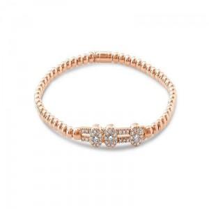 Hulchi Belluni Sliding Bezel Diamonds Stretch Bracelet