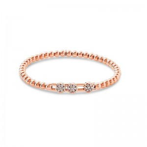 Hulchi Belluni 18k rose gold and diamond Tresore Bracelet