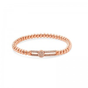 Hulchi Belluni Tresore Stretch Bracelet, 18K Rose Gold