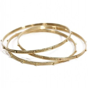 Armenta Old World Yellow Bangle