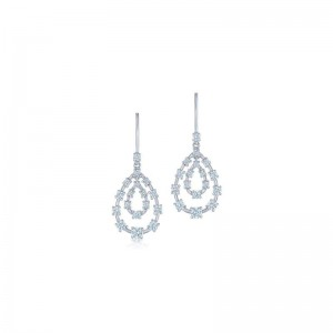 Kwiat Starry Night Double Teardrop Earrings