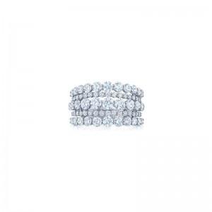 Kwiat Eclipse Five Row Round Diamond Ring
