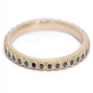 Armenta Black Sapphire Stack Ring
