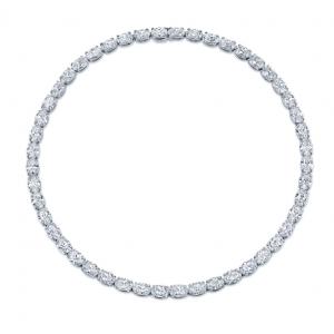 Norman Silverman East West Oval Diamond Necklace