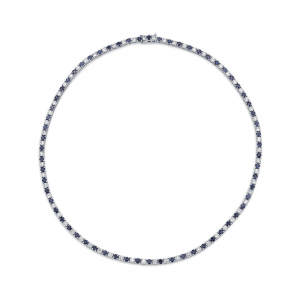Norman Silverman Sapphire And Diamond Necklace