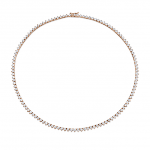 Norman Silverman Rose Gold Trilliant Diamond Necklace