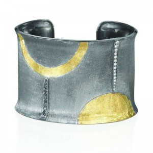 John Apel Handmade Silver And Gold Cuff
