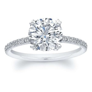 Norman Silverman Round Brilliant Diamond Engagement Ring