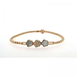 Hulchi Belluni Diamond Pave Flower Stretch Bracelet