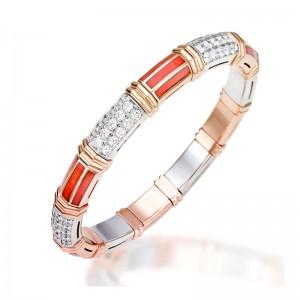 Xpandable™ Rose Gold Coral Bracelet