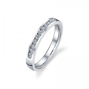 Deutsch Signature Channel Set Round Diamond Bands