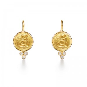 Temple St. Clair 18K Angel Earrings