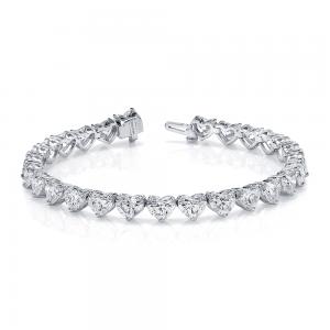 Norman Silverman Heart Diamond Bracelet