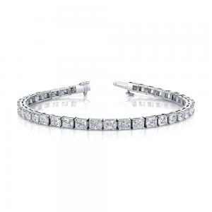 Norman Silverman Radiant Diamond Bracelet