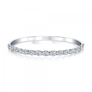 Normam Silverman Diamond Oval Bangle