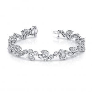 Norman Silverman Pear And Round Diamond Bracelet