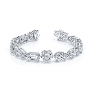 Norman Silverman Fancy Cut Diamond Bracelet