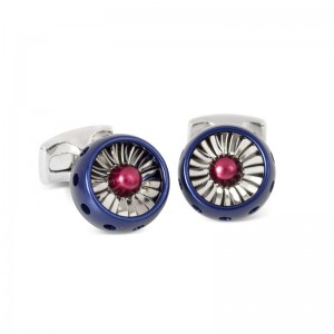 Deakin & Franicis Royal Air Force Jet Turbine Engine Cufflinks