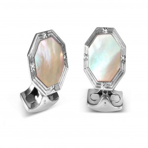 Deakin & Francis Octagonal Cufflinks With Mother Of Pearl