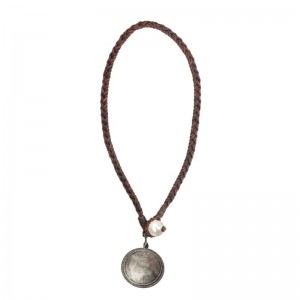 Vincent Peach Silver Queen Victoria Freshwater Necklace