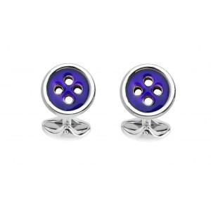 Deakin & Francis Navy Blue Button Cufflinks