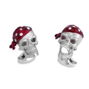 Deakin & Francis Pirate Skull Cufflinks