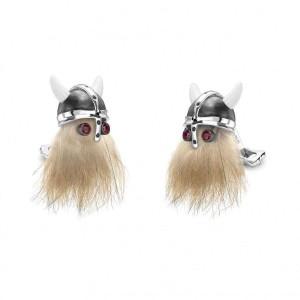 Deakin & Francis Hairy Viking Skull  Cufflinks