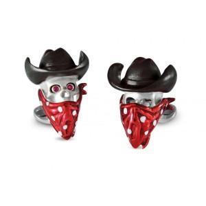Deakin & Francis Cowboy Skull Cufflinks