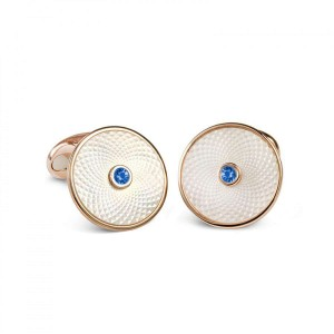 Deakin & Francis White Mother Of Pearl Cufflinks