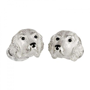 Deakin & Francis Spaniel Dog Cufflinks