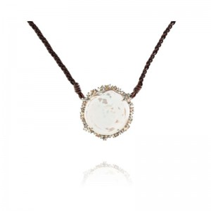 Vincent Peach Diamond Freshwater Necklace