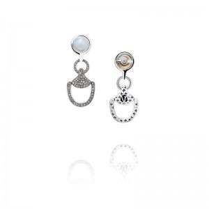 Vincent Peach Churchill Downs Diamond Earrings