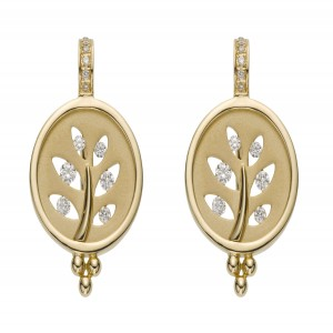 Temple St. Clair Gold And Diamond Round Cut-Out Earrings