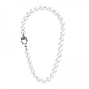 Vincent Peach Equestrian Freshwater Pearl Necklace
