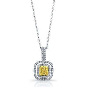 Norman Silverman Radiant Double Halo Pendant