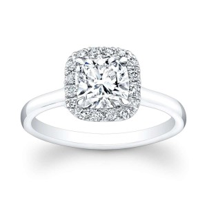 Norman Silverman Cushion Cut Diamond Engagement Ring