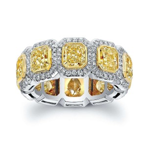 Norman Silverman Yellow Radiant Diamond Band